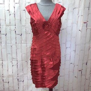 Adrianna Papell Bandage BodyCon Party Dress 14 EUC